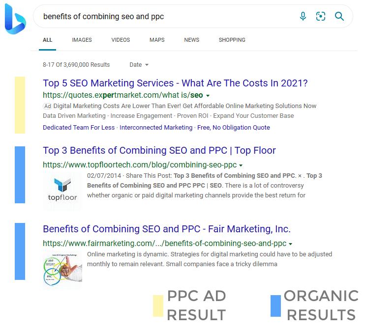 Microsoft Bing Search Results